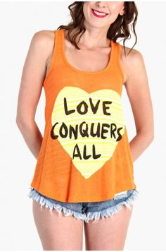 LoveMelrose.com From Harry & Molly | Love Conquers All Striped Tank Top from Love Melrose - SLEEVELESS - TOPS