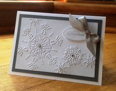 Northern flurry Christmas card-silver and white