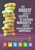 McDonald's Chicken McNuggets 2011 Ad via Restaurant Advertising, Vintage Restaurant, Fast Food Restaurant, Mcdonalds Fast Food, Mcdonalds Chicken, Richard And Maurice Mcdonald, International House Of Pancakes, Kentucky Fried
