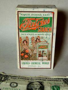 Antique vtg Art Deco 1930 FULL Unopened Box FARIES STARCH Laundry Soap Fairy NOS   eBay