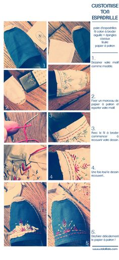 LE BLOG TALALILALA: Customise ton espadrille ! #DIY