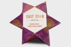 East Star - Exotic tea Packaging by Michelle Mckeon, via Behance
