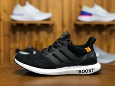 High Quality Adidas Ultra BOOST Running Shoes in www.nikesalezone,com, Designed with unique energy-returning boos technology, this technical running shoe features more boost cushioning material than ever before. Winter Running Shoes, Pink Running Shoes, Running Shoes For Men, Running Women, Adidas Ultra Boost Shoes, Adidas Pure Boost, Adidas Men, Black And White, Sneakers
