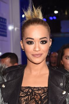 No black widow here! This incredible 'dark romantic' beauty look took Rita Ora's make-up artist two hours and 26 products but was well worth the effort