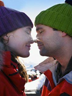 Eskimo Kiss @ www.wikilove.com/Eskimo_Kiss Eskimo Kiss, Knitted Hats, Winter Hats, Relationship, Knitting, Videos, People, Photos, Photography
