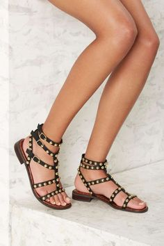 4721e1dfc098 Sam Edelman Eavan Leather Gladiator Sandal - Black