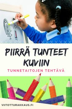 Piirrä tunteet kuviin - Viitottu Rakkaus Early Childhood Education, Emoji, Pre School, Speech Therapy, Mindfulness, Teaching, Toddlers, Peda, Early Education