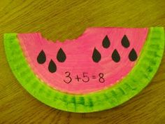 Watermelon Math--another part-whole idea, I like the ABC vest fashion show in the beginning of school year section. What a good teacher!
