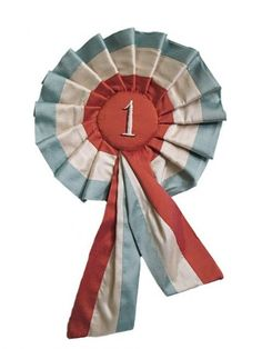 1st prize rosette ribbons = want!