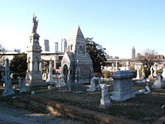 Oakland Cemetery, Atlanta, GA - 1850, Victorian Garden Green Space