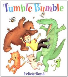 Tumble Bumble Board Book by Felicia Bond http://www.amazon.ca/dp/0694013447/ref=cm_sw_r_pi_dp_u0n3ub0N56BG8