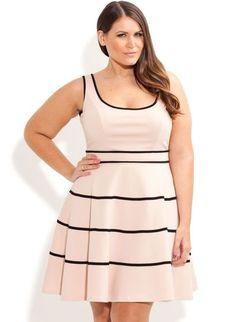 Plus Size Swing Skater Dress - City Chic - City Chic Vestidos Plus Size, Plus Size Dresses, Plus Size Outfits, Look Plus Size, Plus Size Women, Curvy Girl Fashion, Plus Size Fashion, Moda Xl, Modelos Plus Size