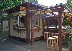 Sunny Day Coffee Kiosk - Portland Oregon USA by Bruce Aleksander & Dennis Milam, via Flickr