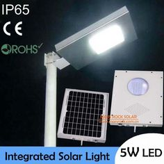 IP65 Waterproof! 5W Outdoor LED Solar Light,10W Solar Panel with 4AH Battery All In One, Integrated Solar Street Light, CE RoHS