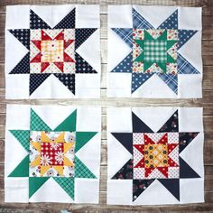 Quilt Block Tutorial - Block from Meet the Makers Free video Quilt Block Tutorial and Fabric Requirements for block from Meet the Makers by Riley Blake Designs. Featuring Gingham Girls and Sunnyside Ave. Star Quilt Blocks, Star Quilt Patterns, Paper Piecing Patterns, Pattern Blocks, Missouri Star Quilt Pattern, Missouri Quilt, Puzzle Quilt, Chicken Quilt, Quilting Tutorials