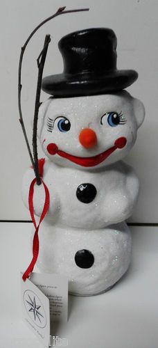 Large INO Schaller for Radko Snowman Candy Container