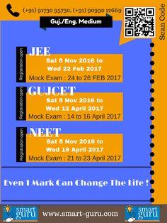 Smartguru Best Place for GUJCET, JEE & NEET 2017 Exam Preparation