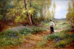 Gathering Wood Along the Way ~ Ernest Walbourn ~ (English: 1872-1927)