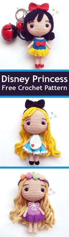 PDF Disney Princess. FREE amigurumi crochet pattern. Бесплатный мастер-класс, схема и описание для вязания игрушки амигуруми крючком. Вяжем игрушки своими руками! Кукла, куколка, дисней, doll, princess, disney. #амигуруми #amigurumi #amigurumidoll #amigurumipattern #freepattern #freecrochetpatte...