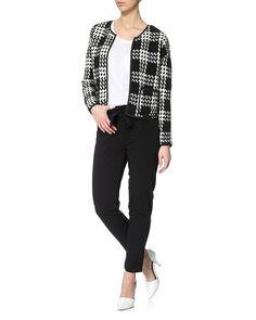 buy the look for 531,96 PLN  Vero Moda trousers, Vero Moda jacket, Saint Tropez blouse, Sugarfree shoes  http://www.stylepit.pl/ona/stylizacje/l89534-szpilki-sugarfree-ruth-spodnie-vero-moda-zakiet-vero-moda_bluzka-saint-tropez