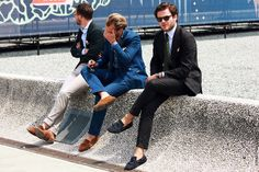 Patrick Johnson: If you don't wear a jacket in summer then my question to you is: why not? Jackets are wonderful. They give you pockets to put things in, hide your sweat patches and look smart and professional. They also give you a waist, something you are tragically denying yourself with your big square shorts and your big square, short-sleeved shirt. Wear a jacket in a lightweight wool, cotton or linen made with very little or even no lining and larger armholes for an unimaginably cool…