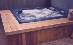 Sqare Hot Tub Wood Surround With Seats Spa Surrounds