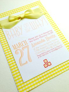 Baby On The Way Baby Shower Invitations in by FoxOnTheMoonLLC
