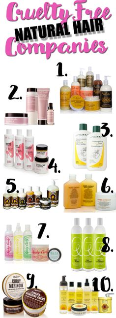Ten Cruelty Free natural hair companies you have to try.