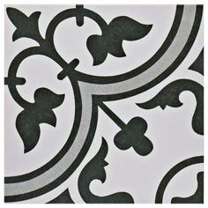 SomerTile 9.75 x 9.75-inch Art Grey Porcelain Floor and Wall Tile (Case of 16)