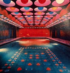 Pool at the Astoria Hotel designed by Verner Panton //  And to think it's probably been modernised and dug up replaced with something more 'tasteful' :(