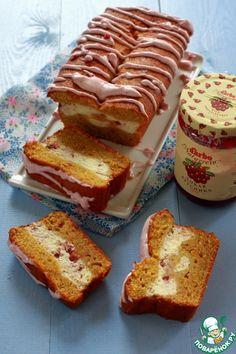 Тыквенный кекс с творожно-брусничной прослойкой - кулинарный рецепт