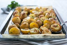 Truffle Pesto Roasted Potatoes