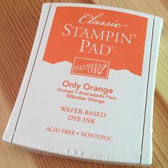 ONLY ORANGE - STAMPIN UP - RETIRED Ink Pads, Stampin Up, Orange, Free, Design, Stamping Up