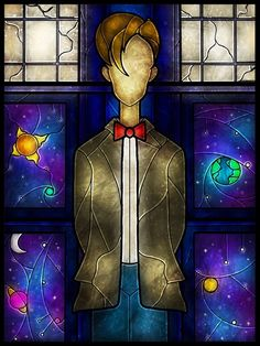 Doctor Who Stained Glass Art--If words could describe how much I want this...there are words...like I want this fricking awesomeness right the frick now.
