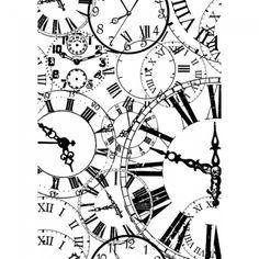 U-mount Stamp Clocks Vintage Labels, Vintage Ephemera, Clock Art, Wall Clocks, Wall Clock Design, Time Clock, Time Art, Handmade Home Decor, Steampunk