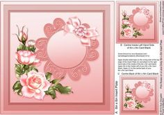 Pink Roses on a Lace Doily matching 8in x 8in Insert Plate on Craftsuprint designed by Sue Douglas - This is the matching 8in x 8in Insert Plate sheet for the Pink Roses on a Lace Doily 8in x 8in Decoupage Mini Kit design, Also included on the sheet are two smaller panels to place on to the back and the inside left of your finished card. If you would like to see the Decoupage sheet that matches this design, please go to the Related Sheets option. Instructions are included on this sheet. To…