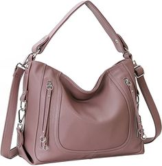 Kenoor New Soft PU Leather Handbags Shoulder Bag Tote Cross Body Purses for Womens (Lilac) - http://leather-handbags-shop.com/kenoor-new-soft-pu-leather-handbags-shoulder-bag-tote-cross-body-purses-for-womens-lilac/