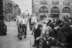 Skinheads and Hippies, Piccadilly, late 1960s