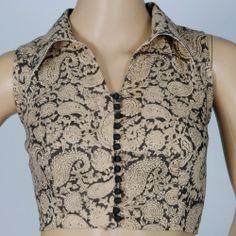 Kalamkari cotton blouse with Smart collar Muhenera presents designer blouses-Clothing-MuheneraKalamkari cotton blouse with Smart collared Readymade Designer Saree Blouses For Parties & Function- Choose From ( Sizes - 42 ): Rini Stunning Salwar Designs, Kalamkari Blouse Designs, Fancy Blouse Designs, Kurta Designs Women, Kalamkari Blouses, Neck Designs For Suits, Blouse Neck Designs, Sari Bluse, Indie Mode