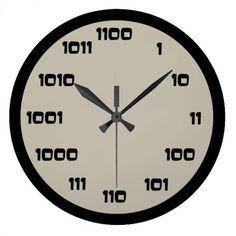 Binary Code Clock - home gifts cool custom diy cyo Programming Humor, Computer Programming, Technology Posters, Digital Technology, Computer Engineering, Computer Science, Math Clock, Learning Patience, Cool Clocks