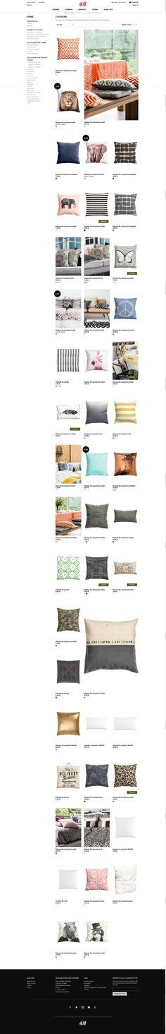 H&M - listing product http://www2.hm.com/fr_fr/maison/catalogue-par-produit/coussins.html #adaptive