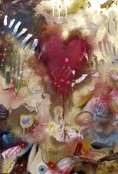 """Saatchi Art Artist Cherie Roe Dirksen; Painting, """"Raw — Rock Art Series (Jeff Buckley)"""" #art"""