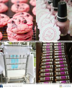 Baby Shower Decorations & Themes I like the Hershey's idea for a party favor Shower Bebe, Baby Boy Shower, Baby Showers, Baby Shower Gifts, Baby Decor, Baby Shower Decorations, Baby Girl Sprinkle, Pink Cookies, Auntie