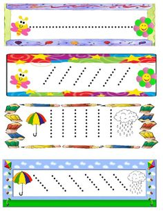 Schrijfpatroon voor kleuters / Dibujo Preschool Writing, Preschool Classroom, Preschool Worksheets, Preschool Activities, Nursery Activities, Motor Activities, Pre Writing, Writing Skills, Handwriting Activities