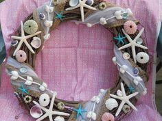 starfish urchin decorative BEACH NAUTICAL DECOR grapevine wreath weddings