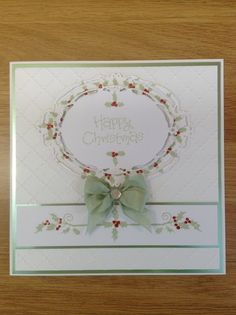 Another of my favourite cards made using Phill Martin's Sentimentally Yours stamps, and his bow technique (but not upside down this time)!!!