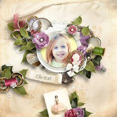 Cherish by Lilas http://shop.scrapbookgraphics.com/Cherish-Lilas-bundle.html  RAK Lilou