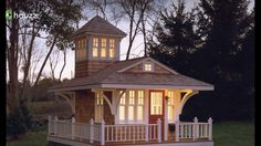 I love this traditional tiny house with a sleep tower!