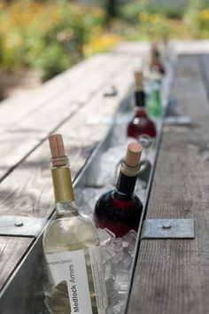 Loving these vintage picnic tables: They're where fond memories are made with family and friends.