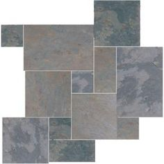 Daltile Natural Stone Collection Indian Multicolor Versailles Pattern Slate Floor and Wall Tile Kit (15.75 sq. ft. / kit)-S771PATTERN1P at The Home Depot